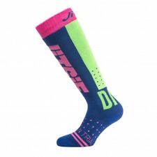Jitsie Performance Trials Sock - S/M - Navy/Fluo Green/Violet - Long