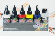 Createx Illustration Colors Opaque Primary Set 2oz airbrushing paint