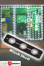 LEDUPDATES STOREFRONT LED LIGHT BLACK SHELL WHITE 6000K + UL POWER SUPPLY