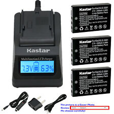 Kastar Battery LCD Fast Charger for Kodak KLIC-5001 Kodak EasyShare Z760 Camera