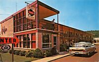 NEW HAVEN CT~3 JUDGES MOTEL & RESTAURANT-WILBUR CREEK PARKWAY POSTCARD 1964 PMK