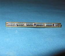 "Antique c1900s 14k Gold Diamond and Sapphire Filigree Bar Pin Brooch 4 grams >2"""