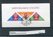 Haiti Block 23 gestempelt (5 Stück) Anti Malaria Block used