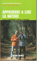 Livre apprendre à lire la nature Josette Déjean-Arrecgros éditions Sud Ouest