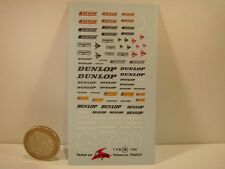 "DECALS 1/43  "" DUNLOP "" - VIRAGES T49"