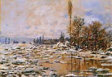 Art Oil painting Claude Monet - Breakup of Ice, Grey Weather impressionism view