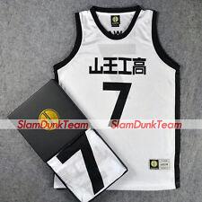 d65b4c8d8e4 SLAM DUNK Cosplay Costume Sannoh School Basketball #7 Kawata Replica Jersey  W