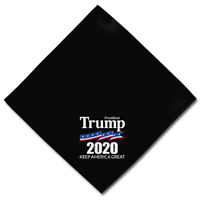 "President Trump 2020 -Keep America Great Scarf Square Black Bandana (22"" x 22"")"