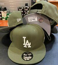 Los Angeles Dodgers Snap Snapback 9Fifty New Era 950 CAP Hat OSFA Olive Green