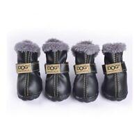 4pcs/set Pet Dog Puppy Winter Snow Warm Shoes Anti-Slip Puppy Walk Boots 5 Sizes