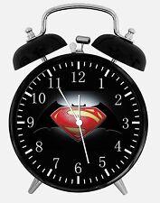 "Superman Batman Alarm Desk Clock 3.75"" Home or Office Decor E22 Nice For Gift"