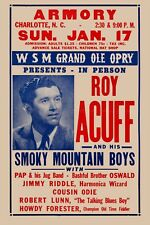 Country Great: Roy Acuff at the Armory Concert Poster 1957  12x18