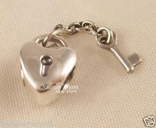 KEY TO MY HEART Genuine PANDORA VALENTINE Silver Charm~Bead DANGLE 790971 NEW