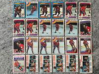 Montreal Canadiens Lot Og 58 Cards 70s 80s Robinson Lafleur Gainey Savard Shutt