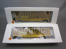 LOT OF 2 ROCO HO SCALE ETHYL  CONTAINER CARRIER CAR EBX90
