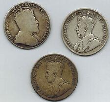 Newfoundland 50 Cents 1910   1914 1919 C George  V Sterling Silver Edward VII