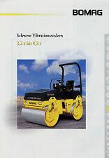 Prospekt Bomag schwere Vibrationswalzen 4/00 2000 Broschüre Baumaschine brochure
