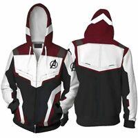 Marvel Avengers 4 Endgame Cosplay Hoodie Sweatshirt 3D Men Warm Jacket Coat Tops