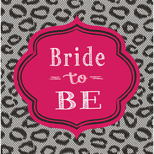 16 x Hen Party Bride to Be Napkins Bridal Shower Hen Party Tableware Serviettes