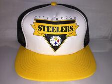 Vtg Pittsburgh Steelers Snapback hat cap 90s Youngan hat cap mesh trucker NFL og