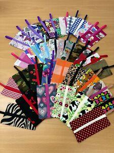 Pocket Tissue Holders Covers, Various Designs, Handmade, Cotton, Gift