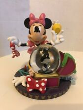 Disney Minnie Mouse Snow Globe Costume Wardrobe Chest w Black White Minnie