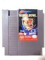 Tecmo Super Bowl -- NES Nintendo NFL Football Original Authentic Game Tested