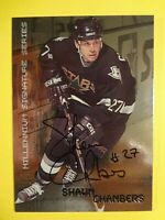 1999-2000 IN THE GAME SHAWN CHAMBERS MILLENIUM SIGNATURE SERIES AUTOGRAPHED CARD