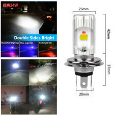 Dual Sides Bright 24W H4 Motorcycle COB LED Chips High-Low Beam Lamp Headlight