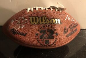 Dallas Cowboys Emmitt Smith Wilson NFL Official Autographed Rushing Champion Coa