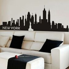Inspirational New York City Wall Decal NYC Silhouette Living Bedroom Vinyl Decor