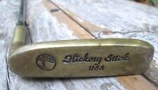 Hickory Stick Putter Solid Brass Head and Metal Shaft Callaway