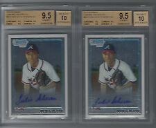 2010 (2) Bowman Chrome Julio Teheran RC Auto BGS 9.5/10