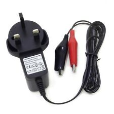 12V 0.5A AUTOMATIC SEALED LEAD ACID BATTERY MAINS CHARGER 1.2M CROCODILE CLIPS