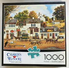 """Buffalo Puzzle - """"OLDE CAPE COD"""" - Charles Wysocki 1000 Pieces / Complete"""