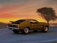 1969 69 FORD MUSTANG BOSS 302 DIECAST MODEL COLLECTIBLE 1/64 SCALE - DIORAMA