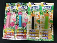 PEZ Flamingos and FlaMangos Limited Edition on American Cards 4 Different