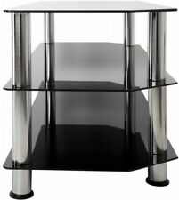 AVF Black Glass Floor Stand With Chrome Legs For TVs Up To 55