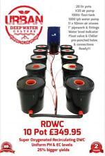 10 Pot 20L System with Flexi For Grow Tent 2.4 x 1.2 600W x2 Light RDWC DWC pot