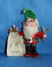 Vintage Kurt Adler Santa's World Wood 1978 Elf W Elderberries Christmas Ornament