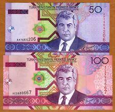 SET Turkmenistan, 50;100 Manat, 2005, P-17-18, UNC