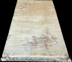 A Vintage 4' x 7' Art Deco Chinese Rug