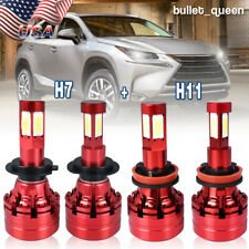 Combo H7 H11 LED Headlight Kit for Ford Fusion 2006-18 Escape 2005-07 Hi/Lo Beam