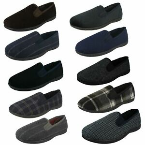 Mens Clarks 'King Twin' twin Gusset Textile Slippers G Fitting