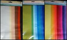 10 Colours of A4 Sheets of Handmade Felt Fabric Craft Sew Scrapbook 1mm thick
