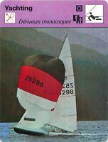 FICHE CARD Dériveurs Monocoques 505 Optimist Vaurien 420 & 470 Voilier Yacht 70s
