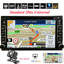 Double 2 Din Bluetooth Car Stereo DVD CD Player 6.2