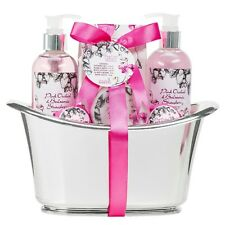 Luxury Aromatherapy Essentials Pink Orchid Balsamic Strawberry Spa Gift Set