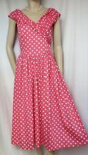 Laura Ashley Sommerkleid 40 rosa weiß Punkte vintage 50er Baumwolle Polka Dots