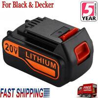 LBXR20 For Black & Decker 20V Max Lithium Ion Battery LB2X4020-OPE LBX20 4.0Ah